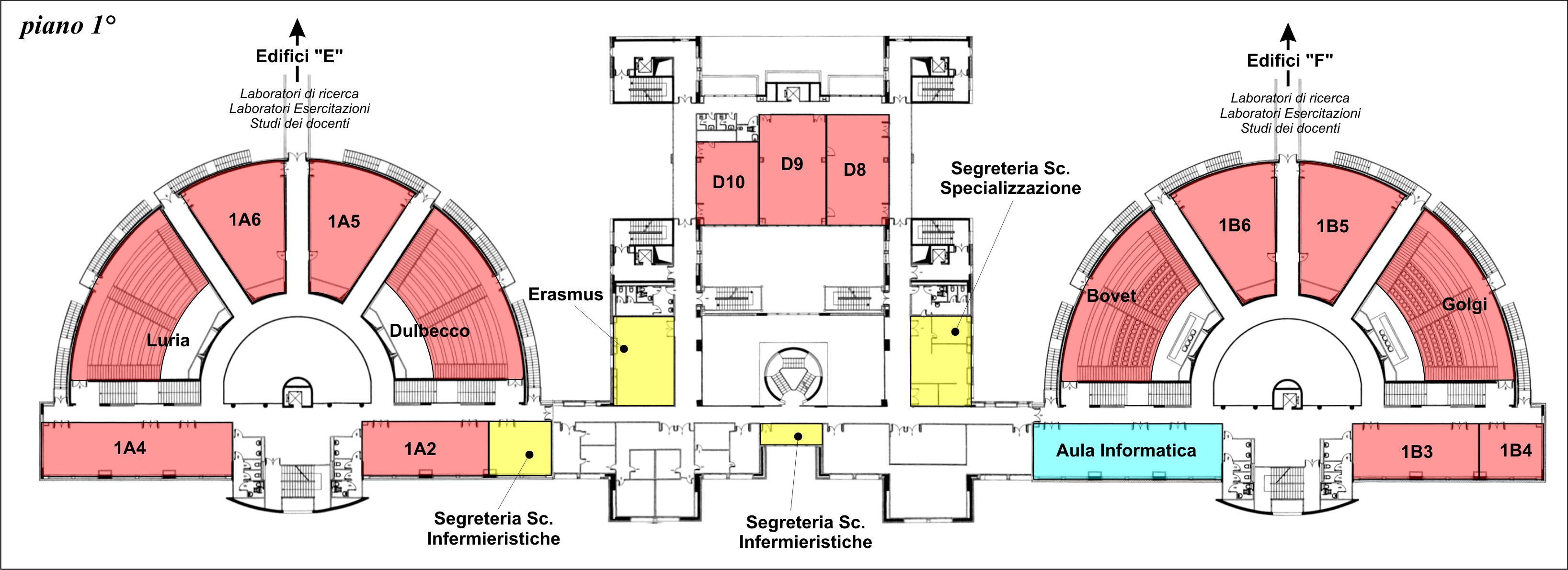 Planimetrie dell 39 edificio della facolt di medicina e for Planimetrie della serra